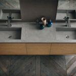 anta legno - doppio lavabo - arredo bagno De Riso Arredamenti (16)